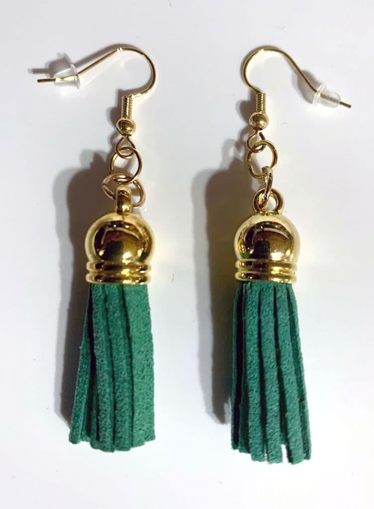 Boho Tassel Earrings in Faux Suede Leather